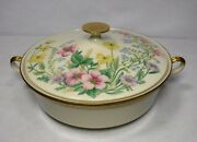 Lenox Usa China Flower Song Pattern Round Covered Serving Bowl And Lid