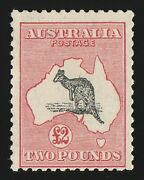 Australia 1931 Kangaroo Andpound2 C Of A Wmk Variety And039nick In Tail And Right Earand039