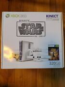 Microsoft Xbox 360 320gb Kinect Star Wars Limited Edition Perfect Condition