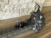 Dept 56 Halloween Village - Haunted Coal Car Animated Car Moves - Retired Works