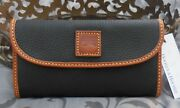 Dooney And Bourke Pebble Grain Continental Trifold Clutch Walletblacknwt 148