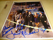 Rare Cast Photo Of Nypd Blue Signed By All 7- 8 X 10 Franzclappoand039grady