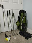 Lh Us Kids Golf Club Youth Ul18 Junior Set 5 Clubs And 4 Way Stand Bag Uskg 57-39