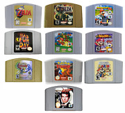 Mario Kart Zelda And More Video Games Cartridge Console Card For Nintendo N64