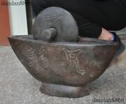 Antique China Hongshan Culture Meteorite Iron Carved Pestle Pound Medicine Tool