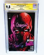 Batman Three Jokers 3 Variant Cover A Red Hood 3x Signed By Jason Fabok