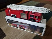 Vintage Perfect 1986 Hess Fire Truck Bank New In Box With Insert