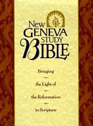 Holy Bible New Geneva Study Bible, New King James By Nelsonword - Hardcover Vg