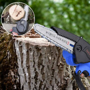 24v 6 Mini Electric Upgrade Chainsaw Wooden Cutting Garden Shears Branch Blue