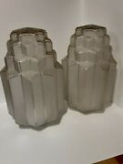 2huge Antique 3 Tier Skyscraper Etched Frosted Glass Hanging Globe Lamp 1920