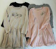 Bcbg Girls Size 4 / 5 Years Lot Long Sleeve Cotton Blend Casual Dresses