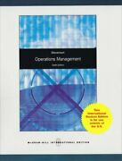 Operations Management Mcgraw-hill/irwin Series Operations By William J. Vg