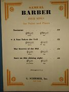 Barber Nun Takes Veil - Vocal Solo, High Voice Brand New