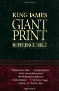 Kjv, Reference Bible, Giant Print, Imitation Leather, By Thomas Nelson