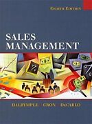 Sales Management By Douglas J. Dalrymple And William L. Cron - Hardcover Excellent