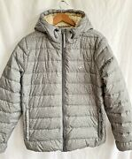 Hollister The Ultimate Down Puffer Jacket Sherpa Lined Gray Size M