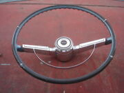1966 Chevelle Malibu Blue Steering Wheel And Horn Bar And Cap 66 Gm Oem Chevy