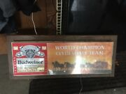 Rare Vintage Budweiser King Of Beers Clydesdale Lighted Sign Light 34 X 14