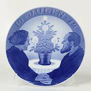 Royal Copenhagen Year Plate Christmas Tree And Old Couple Northern Europe