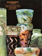 Important French Galle Art Glass / Scarce Sothebyand039s Catalogue + Est. Values