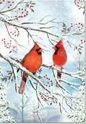 Wintry Cardinals Small Boxed Holiday Cards Christmas By Peter Pauper Press New