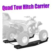 1000 Lb Quad Atv Go Cart Tow Hitch Rack Hauler Carrier With Loading Ramps