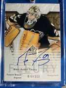 2003-04 Sp Authentic Marc Andre Fleury Future Watch Auto Rookie Card