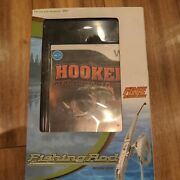 Hooked Real Motion Fishing Game Nintendo Wii 2007 With Fishing Rod In Box