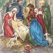 Christmas Advent Calendar Nativity Scene Paper And Glitter Made In Germany