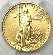 1987 American Gold Eagle 10 Age Coin - Certified Pcgs Ms70 - 3200 Value