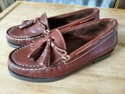 Decoys By Auditions Women Kiltie Tassel Loafers Brown Leather Fringe Size 6ee