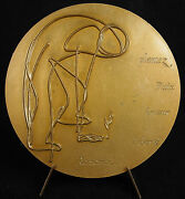 Medal Gilioli Plant Paix Love Liberty Rosemary 1976 3/16in Medal