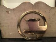 Vintage Greenbrier Hotel Railroad And Supply Group 1981 Chessie Cat Brass Trivet