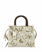 Coach 1941 Butterfly Rogue 25 Bag Chalk White 31225 Rare Neiman Marcus Exclusive