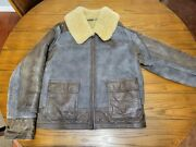 Vintage Polo 80s Leather Jacket L Classic Western Style Sheep Fur