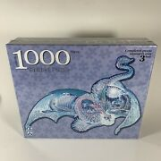 Fx Schmid Ice Dragon 1000 Piece Shaped Jigsaw Puzzle 2004 Rare / Sealed