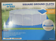 Summer Waves Square Ground Cloth For Above Ground 15ft Swimming Pools 190 X 190