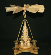 Vintage German Pyramid Carousel Christmas Nativity Windmill 4 Angels Wooden 11and039and039