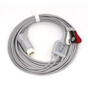 3-leads Ecg Cable With Standard Snap For Philips Heartstart Defibrillator 12pin