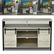 Tv Stand Industrial Tv Console Table Farmhouse Sliding Barn Door Storage Cabinet