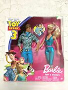 Rare Toy Story Disney Pixar Lot Ken And Barbie. Foreign Edition 2009 Nrfb Mattel