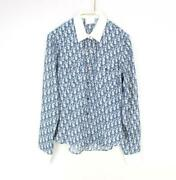 Authentic Christian Dior Vintage Trotter Long Sleeve Shirt Blouse Size 38 Us 6