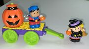 Exc Condition Little People Halloween Pop-up Wagon Fisher Price Witch Superhero