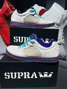 Supra Cruizer White Teal Purple With Extra Laces Size 12