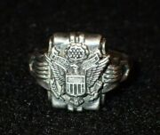 Wwii Us Wac Womenand039s Army Corps Sterling Silver Ring Original And Nice Condition