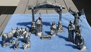 Michael Ricker-bartlett Large Pewter Nativity Creche Limited Casting Complete
