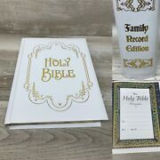 Holy Bible King James Version Family Record Edition With Pictorial Dictionary
