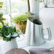 51oz/1500ml Stainless Steel Cone Watering Can Modern Style Indoor Outdoor House