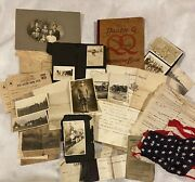 Rare 1917-1919 Wwi Diary Lot Andndash Flag Photos Postcards And Documents - Content