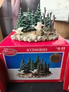 Lot Of 3 1998 Dickens Collectables2 Resin Goose Pond 1 Pine Tree Grove
